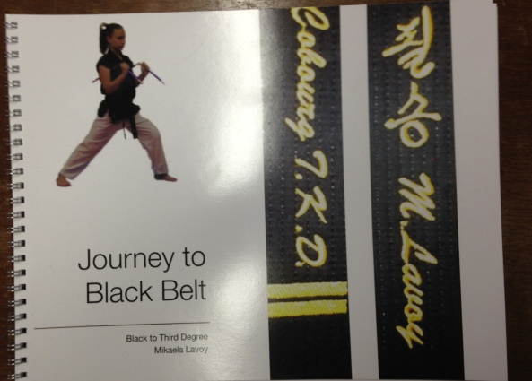 mikaela black belt poster cobourg tae kwon do