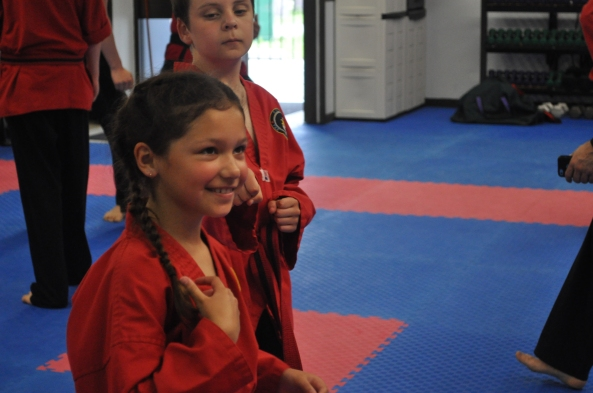 children in taekwondo having fun cobourg tae kwon do