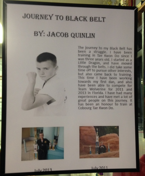 jacob black belt poster cobouurg tae kwon do