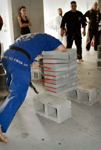 jonathan field power concrete breaking cobourg taekwondo
